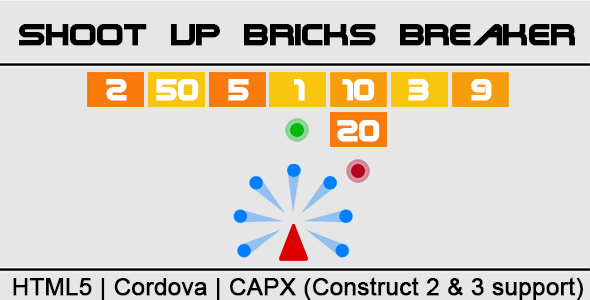 ✌Shoot Up Bricks Breaker (CAPX | HTML5 | Cordova) Endless Game Nulled