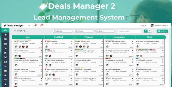 ✨Deals Manager 2 CRM Nulled