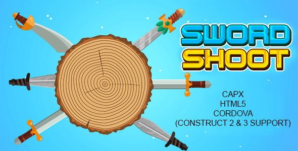 ✅ Sword Shoot Game (HTML5 | Cordova | CAPX) Endless Game Nulled