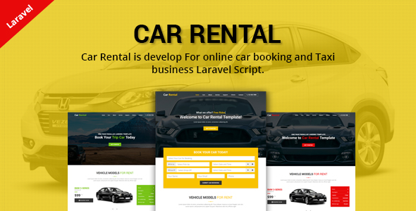 ✌Car Rental – Cab Booking Laravel Script Nulled