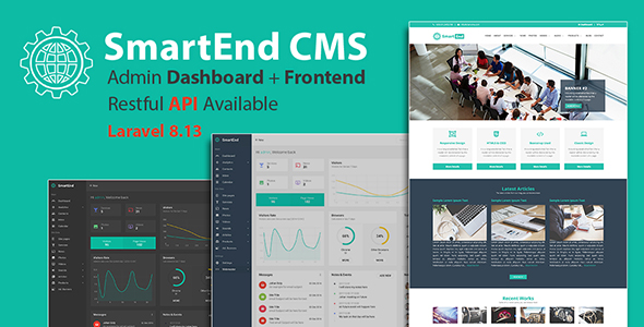 ✨SmartEnd CMS – Laravel Admin Dashboard with Frontend and Restful API Nulled