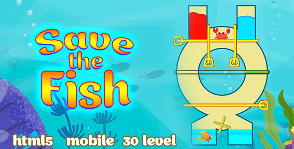 ✨Save the Fish – pull the pin. Html5 & PC &  Mobile (adMob). C3p Nulled