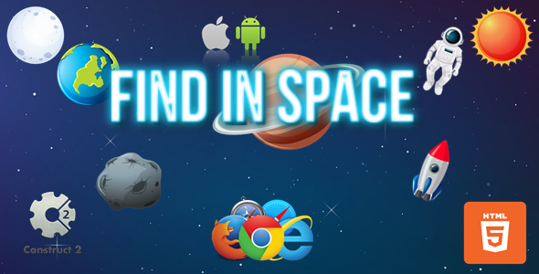 ✨Find In Space – HTML5/Mobile Game – (.Capx) Nulled
