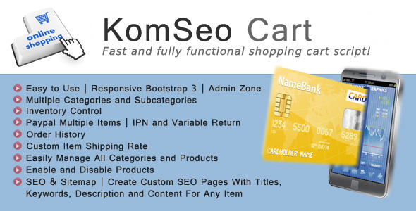 ✨KomSeo Cart – Fast Loading Shopping Cart With SEO Nulled