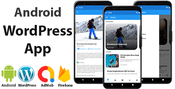 ✨Android WordPress App for Blog and News Site with AdMob, Firebase Push Notification Nulled