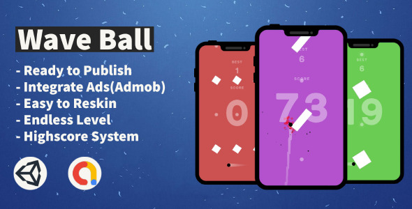 ✅ Wave Ball (Unity+Android+IOS+Admob) Nulled