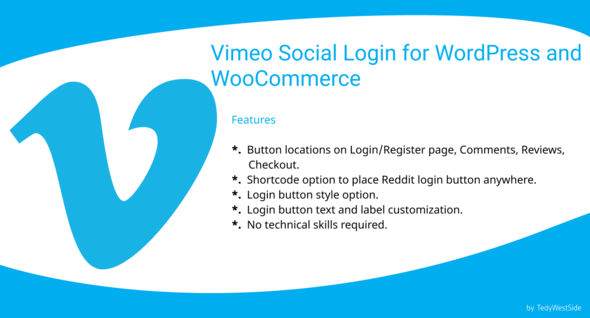 ✨Vimeo Social Login  Plugin for WordPress and WooCommerce Nulled