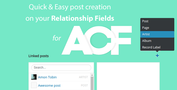 ✌Quick and easy Post creation for ACF Relationship Fields PRO Nulled