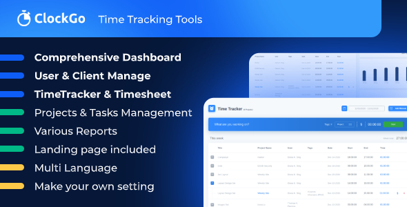 ✅ ClockGo – Time Tracking Tool Nulled