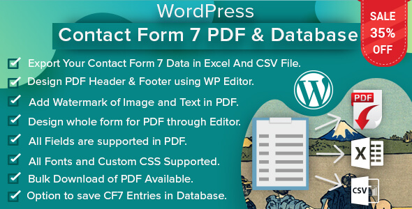 ✅ WordPress Contact Form 7 PDF, Google Sheet & Database Nulled