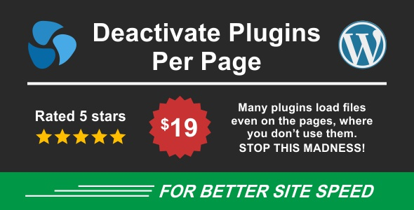 ✨Deactivate Plugins Per Page – Improve WordPress Performance Nulled