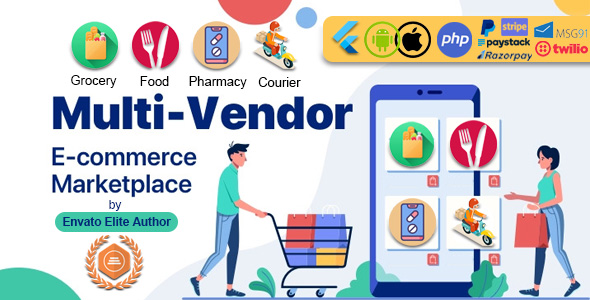 ✨GoMarket | Food, Grocery, Pharmacy & Courier Delivery App | Multi-Vendor Marketplace Nulled