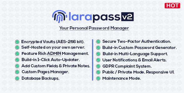 ✨LaraPass v2 – Personal Version Nulled