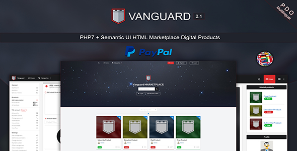 ✅ Vanguard – Marketplace Digital Products PHP7 Nulled