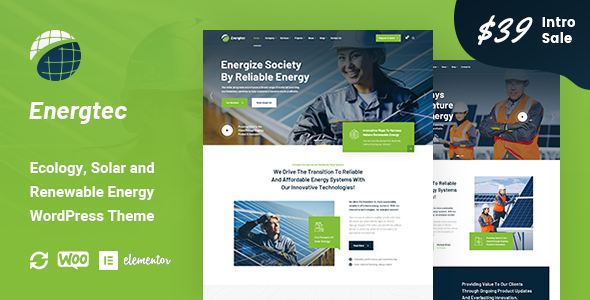 ✅ Energtec – Solar and Wind Energy WordPress Theme Nulled