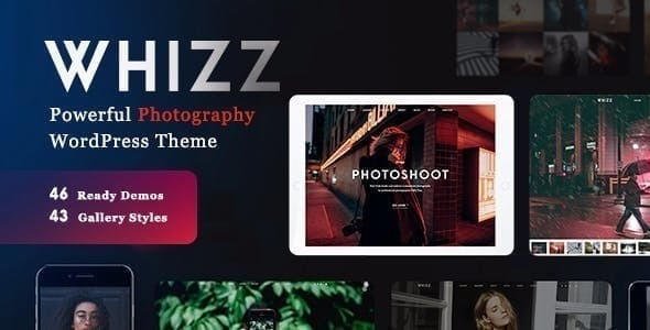 ✅ Whizz Photography WordPress Nulled