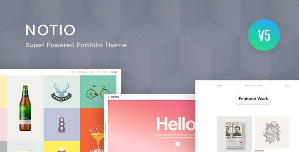 ✌Notio – Creative Portfolio WordPress Theme Nulled
