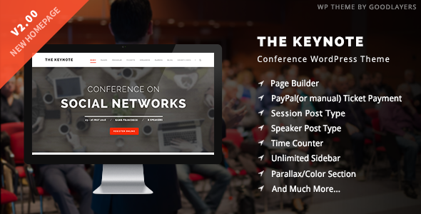 ✌The Keynote – Conference / Event WordPress Nulled