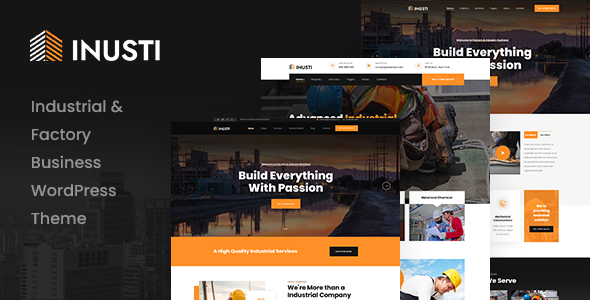 ✨Inusti – Factory & Industrial WordPress Theme Nulled