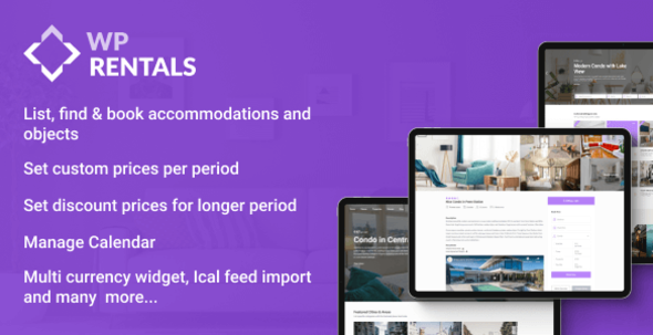 ✅ WP Rentals – Booking Accommodation WordPress Theme Nulled