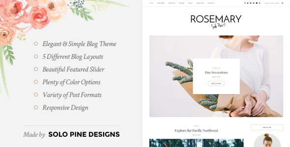 ✅ Rosemary – A Responsive WordPress Blog Theme Nulled