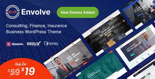 ✨Envolve – Consulting Business WordPress Theme Nulled