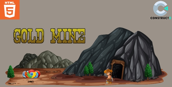 ✌Gold mine – Casual game- HTML5 Nulled