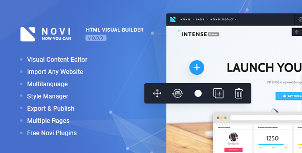 ✅ Novi – HTML Page Builder & Visual Content Editor Nulled