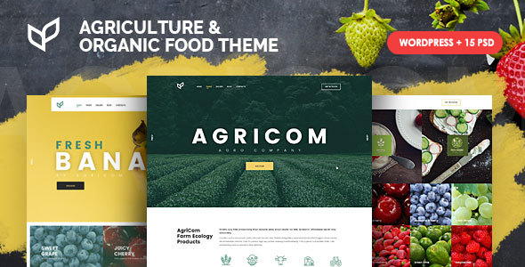 ✌Agricom – Agriculture & Organic Food WordPress Theme Nulled