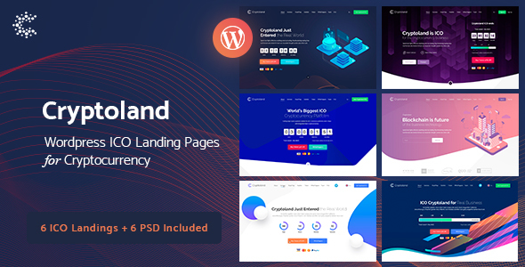 ✅ Crypto-land – Crypto Currency Landing Page WordPress Theme Nulled