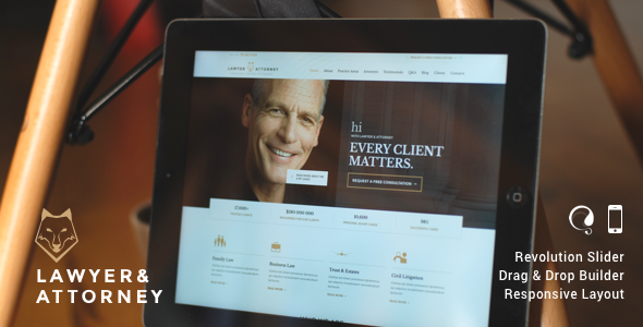 ✌Lawyer & Attorney – Law Firm WordPress Nulled