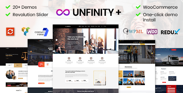 ✨Unfinity – One page WordPress Nulled