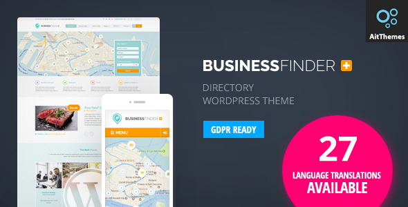 ✨Business Finder: Directory Listing WordPress Theme Nulled