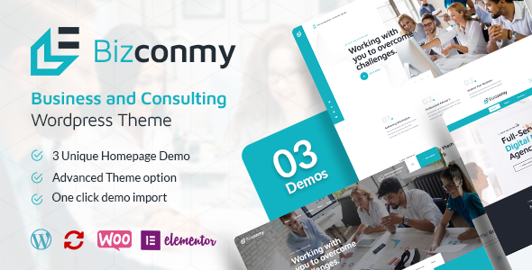 ✨Bizconmy – Business and Consulting WordPress Theme Nulled