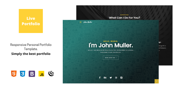 ✨Live portfolio – Responsive Personal Portfolio Template Nulled