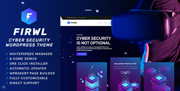 ✌Firwl – Cyber Security WordPress Theme Nulled