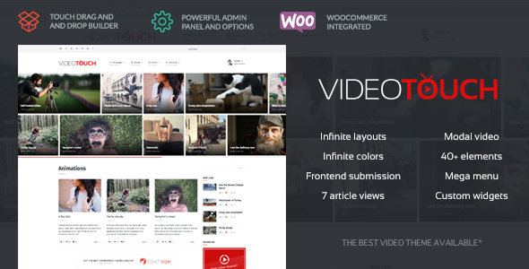 ✅ VideoTouch – Video WordPress Theme Nulled