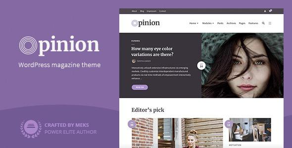 ✅ Opinion – Magazine WordPress Theme Nulled