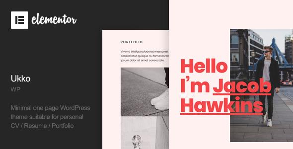 ✌Ukko – Personal Portfolio WordPress Theme Nulled
