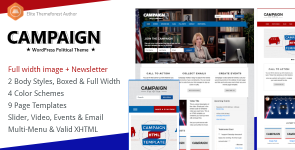 ✌Campaign – Political WordPress Theme Nulled