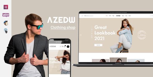 ✅ Azedw – Clothing Shop WordPress Theme Nulled