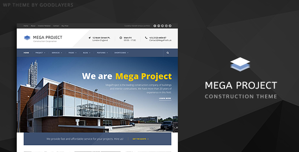 ✨Mega Project – Construction WordPress Nulled