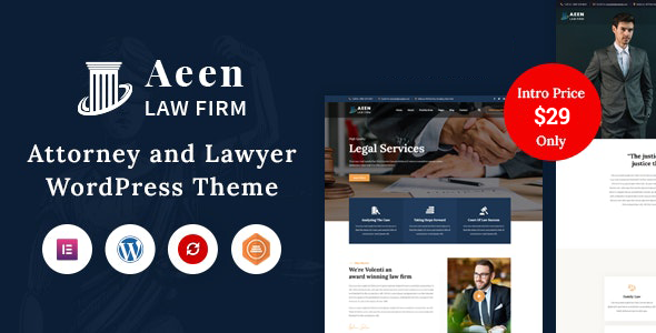 ✌Aeen – Attorney and Lawyer WordPress Theme Nulled