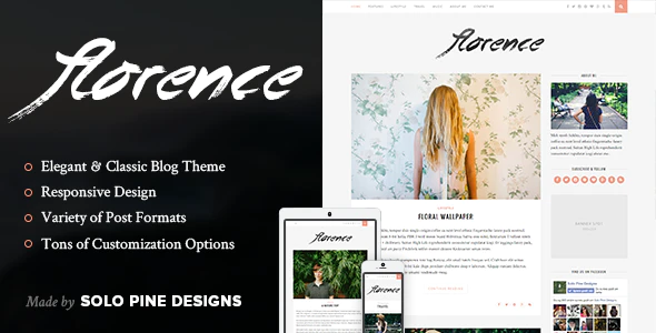 ✅ Florence – A Responsive WordPress Blog Theme Nulled