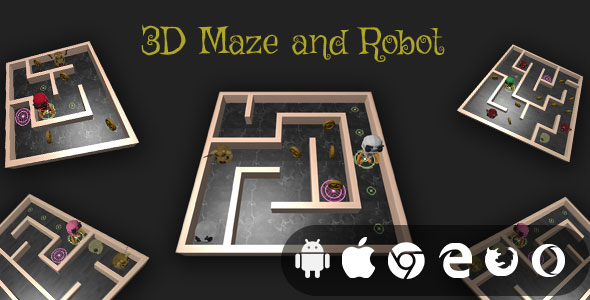 ✌3D Maze And Robot – Cross Platform Realistic Maze Game Nulled