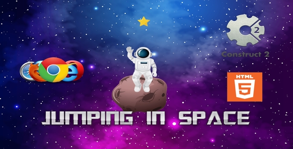 ✨Jumping in space – HTML – Casual Game Nulled