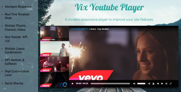 ✨Vix Youtube Player – HTML 5 Responsive Nulled