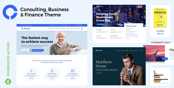 ✨Consultancy – Consulting Finance Accounting WordPress Nulled