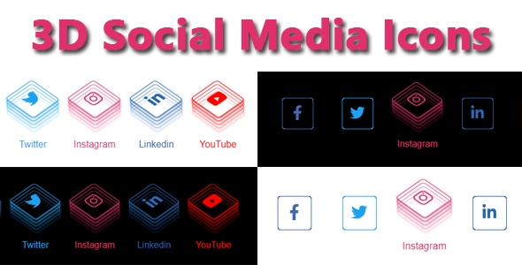 ✅ 3D Social Media Icons Nulled