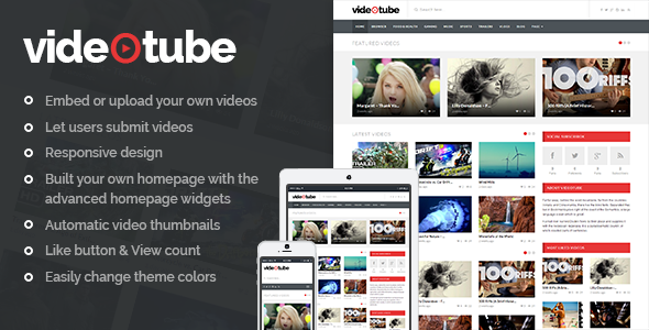 ✨VideoTube – A Responsive Video WordPress Theme Nulled